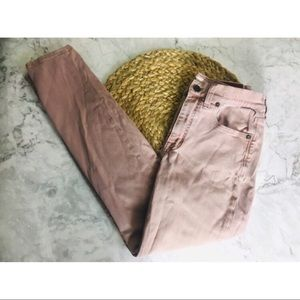 Madewell high rise purple jeans cropped 27